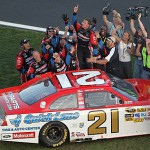Daytona 500 winning tribute car; Wood Brothers Trevor Bayne