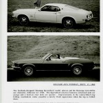 1969 Ford Mustang Press Release Photos