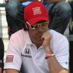 Race winner Dario Franchitti at drivers' meeting during Dan Weldon tribute