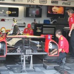 2012 Indy 500 garage Helio Castroneves race car