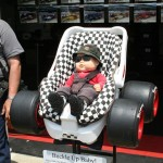 childs car seat, race fan style