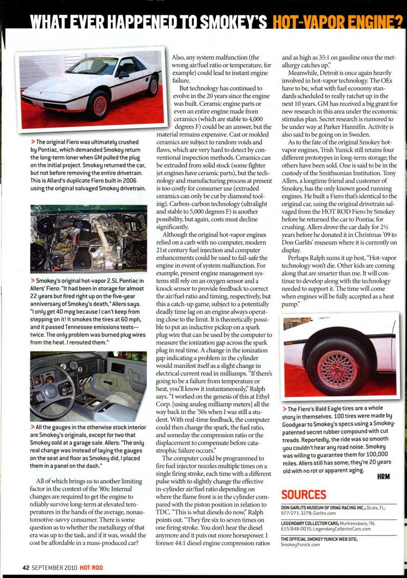 Smokey Ynick Hot Vaor Fiero Best Damn Garage In Town Information Pontiac Fuel Filter Location This