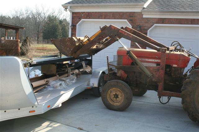 Photo of Four Post Lift; Unloading