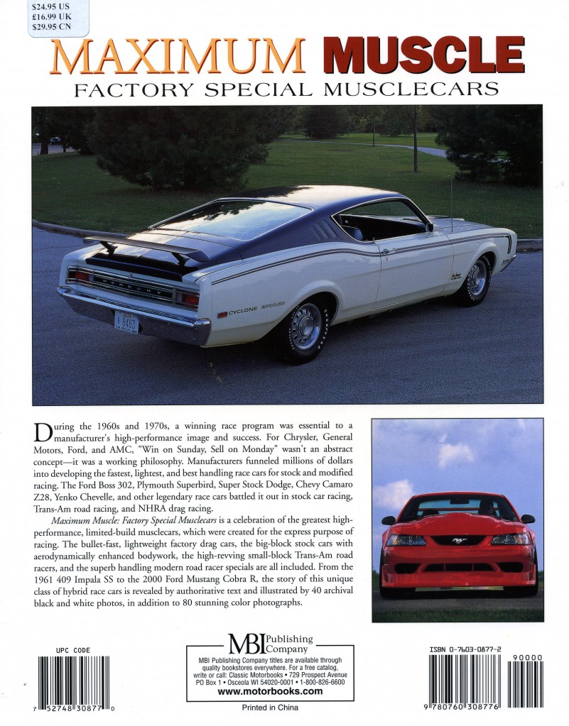 Muscle Car Book Review Maximum Muscle Information On Collecting