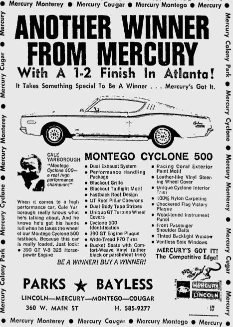 Photo of 1968 Mercury Cyclone GT 500 proof?