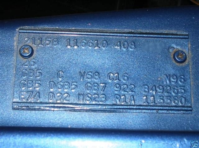 Photo of Data Plates and Vins; Part 3 What Does it Say?