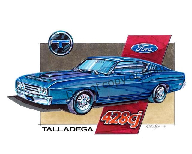 Photo of Ford Talladega Art Work-SOLD OUT