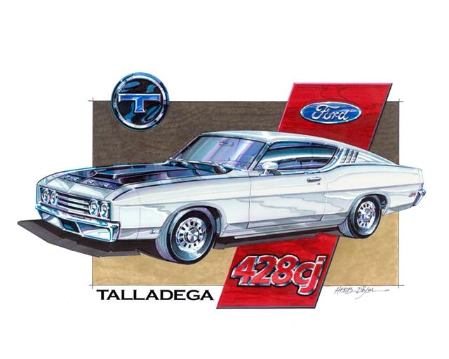 Photo of 1969 Ford Talladega Art Work-SOLD OUT