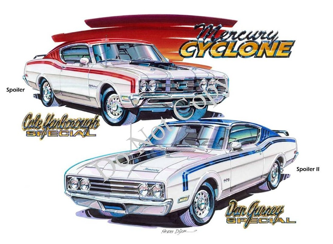 Photo of Mercury Cyclone Spoiler and Spoiler II Prints Added to Our Store-SOLD OUT