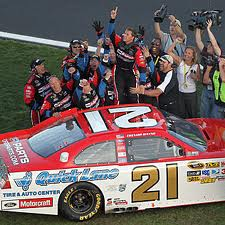Photo of Daytona 500 winning tribute car; Wood Brothers Trevor Bayne