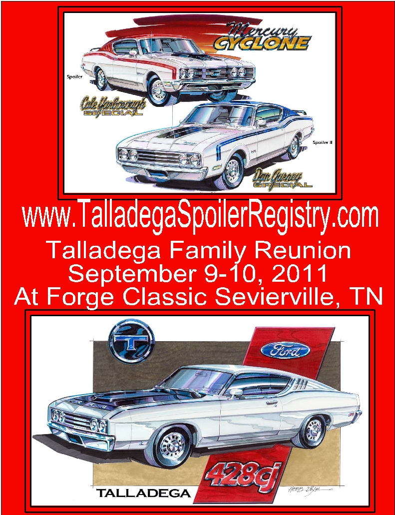 Photo of Ford Talladega and Mercury Cyclone Spoiler Registry open for Business!