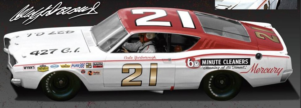 Photo of Autographed Cale Yarborough Diecast #21 Cyclone