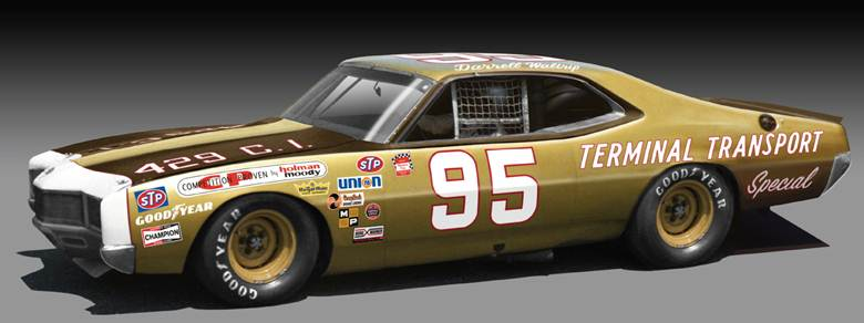 Photo of Darrell Waltrip Diecast 1971 NASCAR Mercury Cyclone