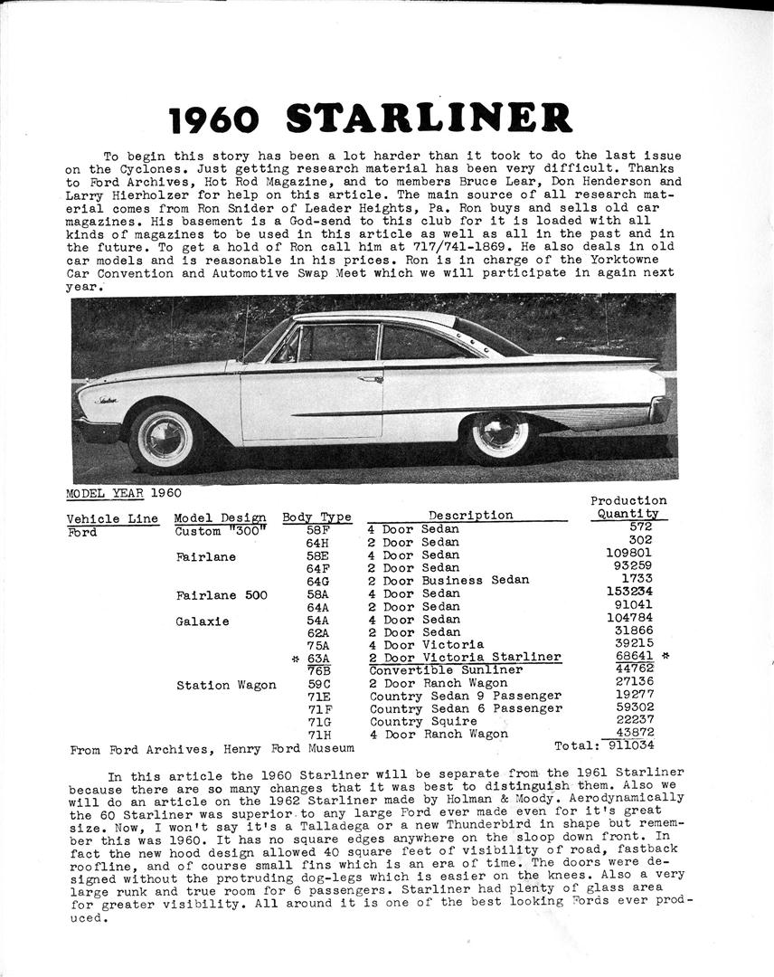Photo of 1960 Ford Starliner