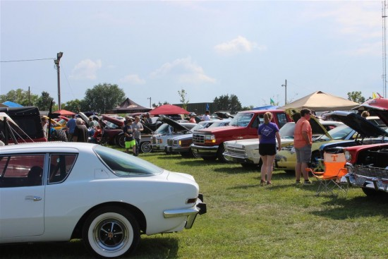 Show field include some very rare cars from an Avanti to Model A's