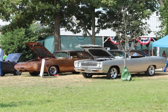 Two Mopars attracted a lot of attention.