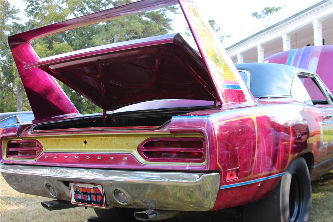 This vintage custom drag car Superbird with wild paint was one of the cars that really caught my attention.