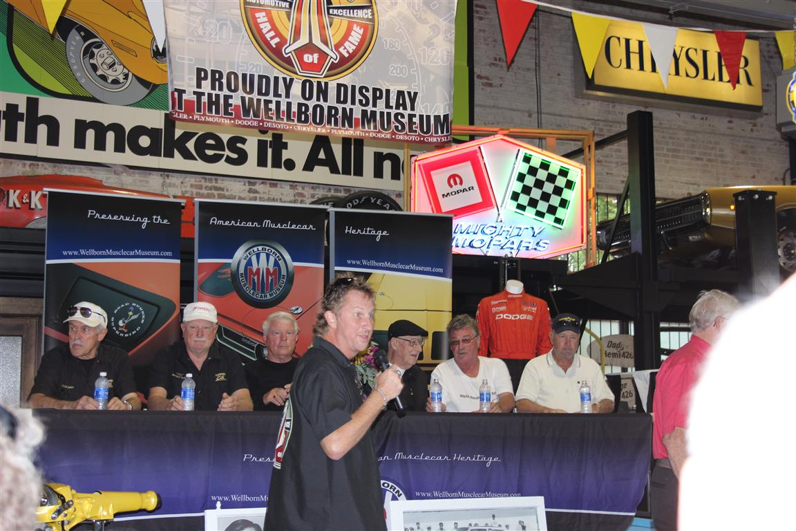 The panel discussion on Mopar drag racing and oval racing from the men who were there was terrific.