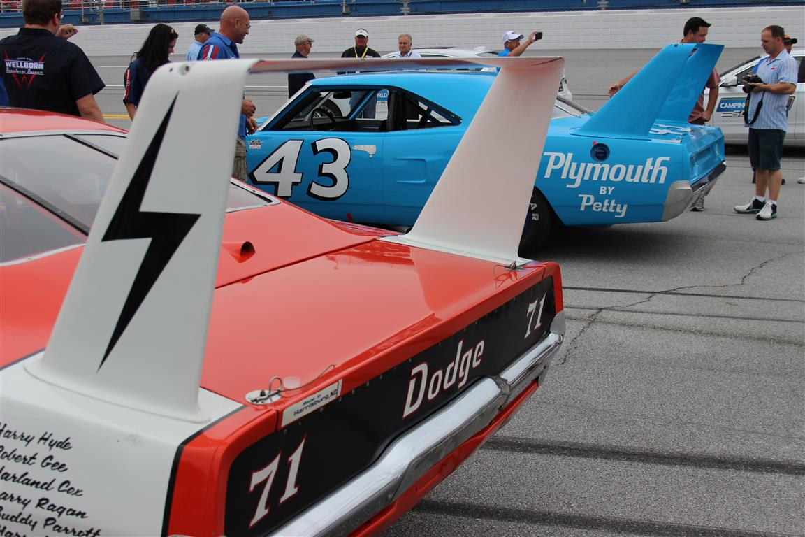 Bobby Isaac and Richard Petty Mopar Winged Warriors will grab anyone's attention.