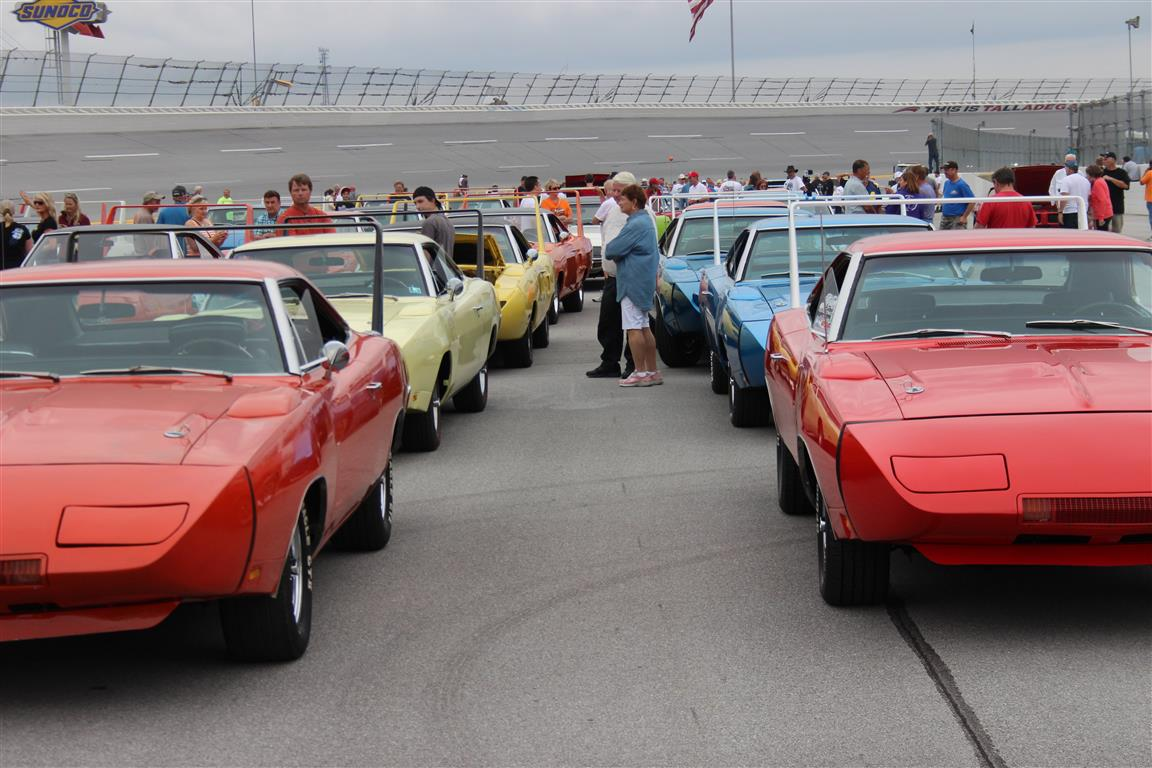 This line up prior to the Parade lap felt like we were back in 1969 and the race was about to start.
