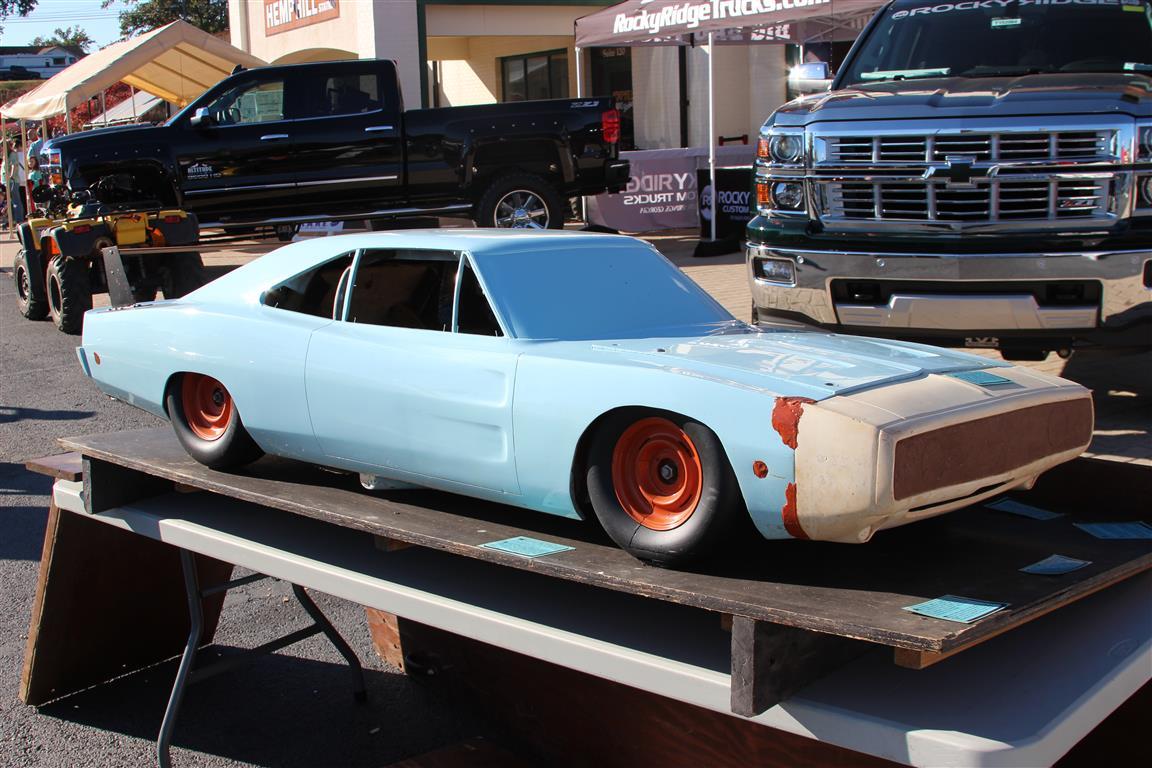 1969 Dodge Charger Daytona 3/8 scale wind tunnel test car model.