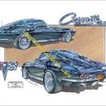 1963 Corvette Split Window Coupe Art Print