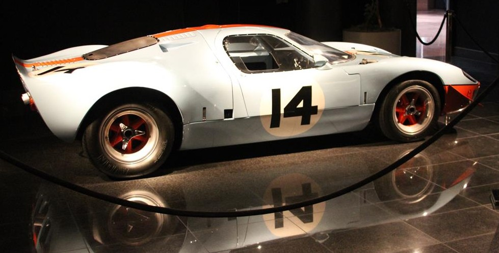 1966 ford gt40 mirage in gulf oil livery at the black hawk automotive museum