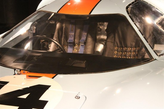 1966 Ford GT40 Mirage in Gulf Oil livery at the Black Hawk Automotive Museum.