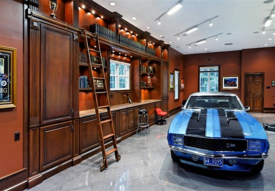 A Man Cave for the thinking man with a library included.