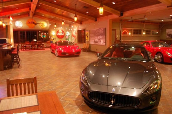 """If the cars are expensive and the room is large with lots of space between the cars this is far more than a """"cave""""."""