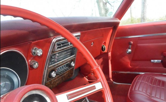 When was the last time you saw an original factory dash in red? Most of the time we see black dashes even with colored interiors.