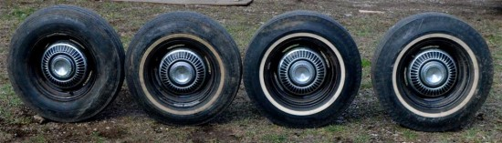 Although not installed on the Firebird, the original tires and wheels are with the car!