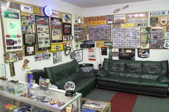 Here is a look at one corner of our Man Cave. In future Posts we will discuss some of the details.