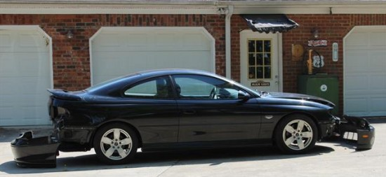 Here is the 2004 GTO before work started but with some of the new parts on the ground.