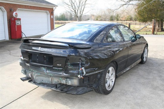 The rear of the GTO will require a new bumper cover and taillights.