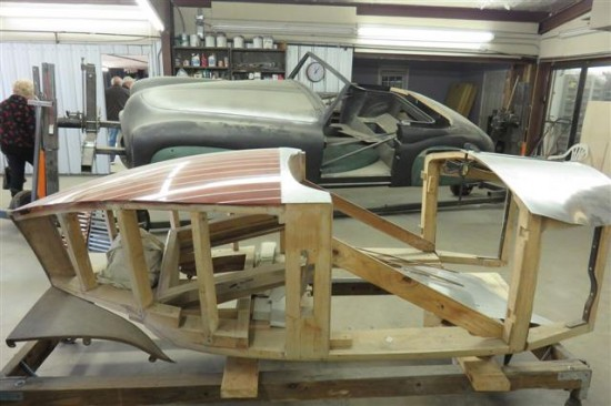 This body is being hand built by Jim for his own Rolls chassis.