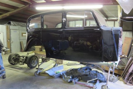 This Rolls Royce body is finished and is waiting to marry up with its new chassis.