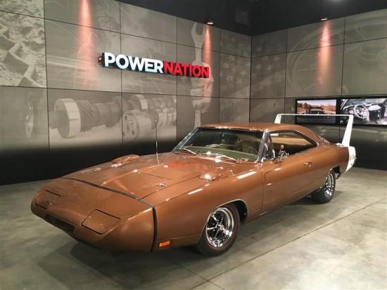 The Dodge Charger Nuremberg Daytona on the set of Power Nation.