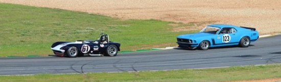 Seen here on track with a Boss 302 Mustang gives you a better idea of the Cheetahs overall size.