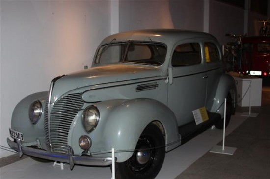 This Mercedes Benz is a front engine car but a previous version had a rear engine.