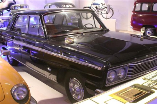 """This 1964 Ford Fairlane can with an interesting display card. It read: """"In the 1960s the rebellious youths of the time turned the car into a place of immorality, drunkenness and necking. Adults agonized, suffered and were horrified."""" I think it is interesting the museum chose to use an American car for this notation on 1960s society in Sweden!"""