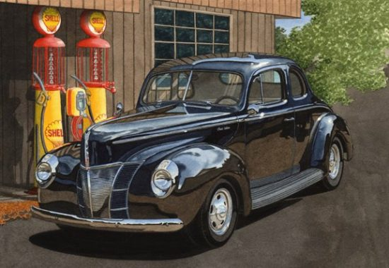 40 at the Pumps by Dan McCrary, Giclee Print, signed and numbered.