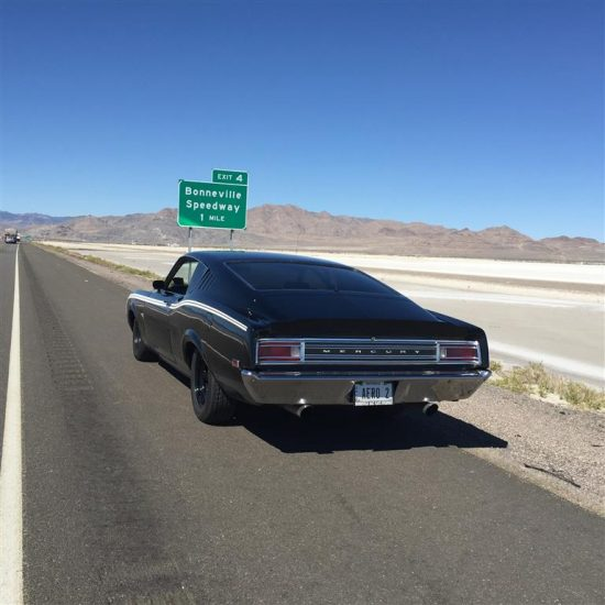 150 MPH on the Bonneville Salt Flats and driven 1,800 each way to the track!
