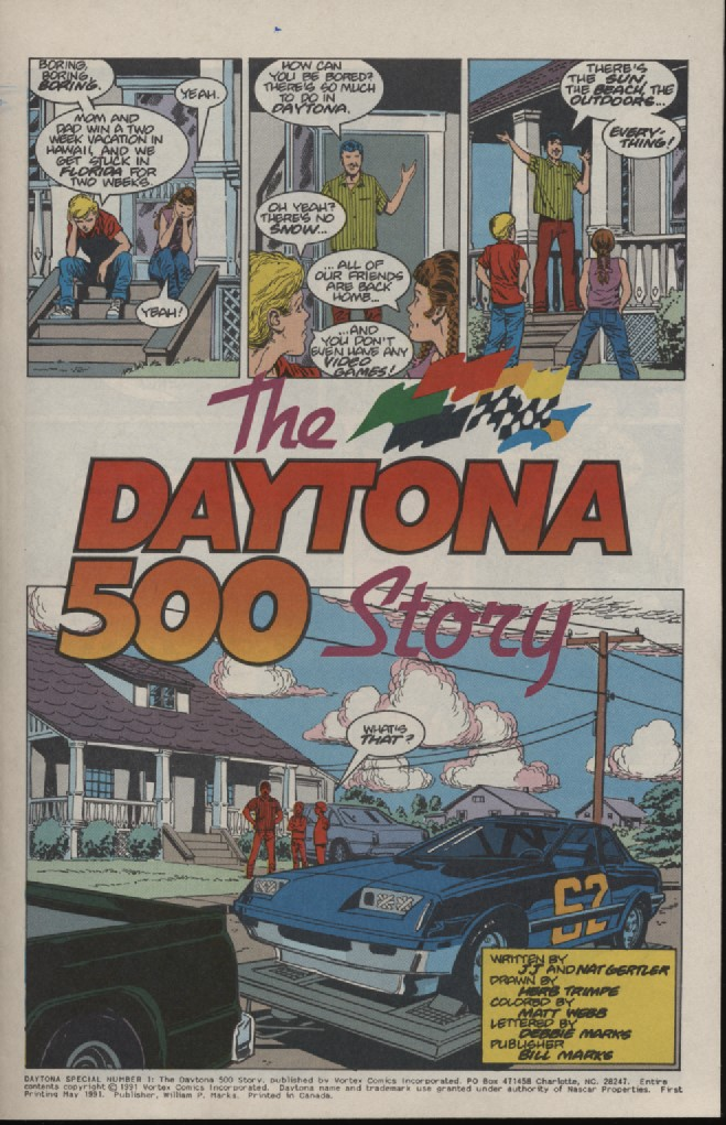 Photo of Daytona 500 History in a Comic Book; Part 1