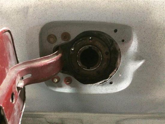 Here is the gas door installation complete.