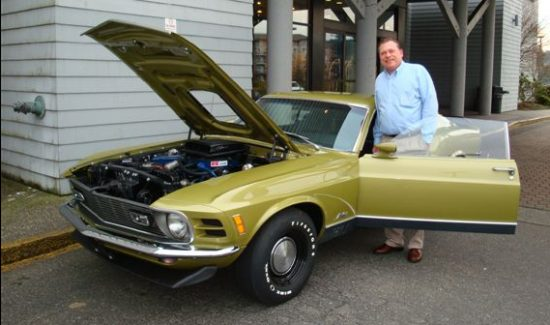 The Mustang today with its current owner.